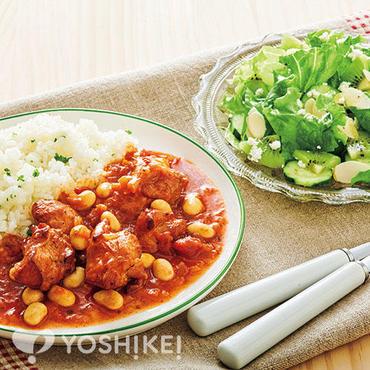 チキンとお豆のトマトソース煮