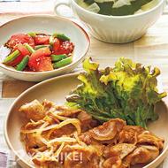 豚肉の韓国風生姜焼き