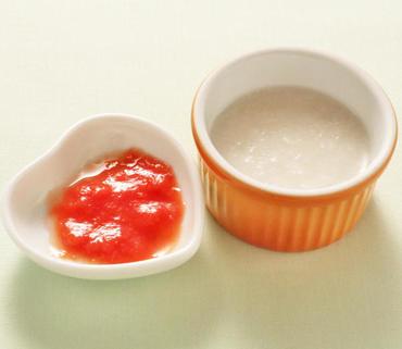 ミニトマトのピューレ・おかゆ