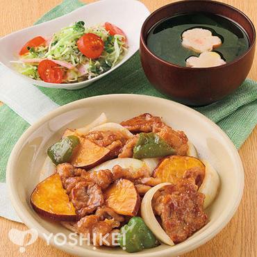 豚肉とさつま芋の焼き南蛮