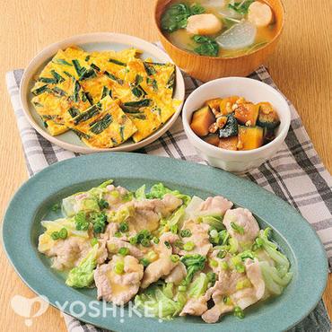 豚肉と白菜のみそバター蒸し~西京風味~
