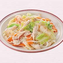 鶏肉と野菜のビーフン炒め