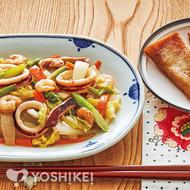 海鮮白湯炒め