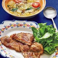 サルティンボッカ(豚肉と生ハムの重ね焼き)
