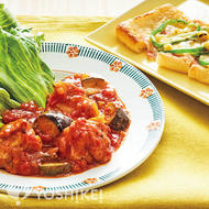 鶏肉とイタリアン野菜のトマトバジルソース