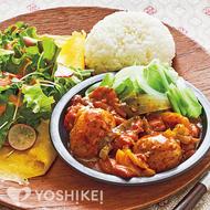 鶏肉と丸ごとじゃが芋のケイジャンソース