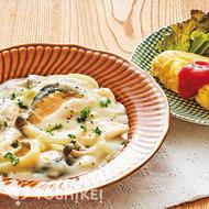 サーモンとじゃが芋のクリーム煮