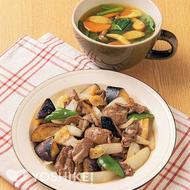 牛肉と野菜のガーリックバターソテー