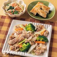 豚肉とブロッコリーの塩炒め