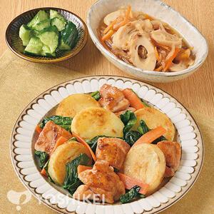 鶏肉とじゃが芋の炒めもの